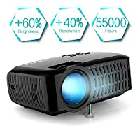 ABOX A2 3000 Lumens Home Theater Projector, 1280 * 720P, 67-170 Inch Screen Size for Home and Outdoor Multiple Purposes