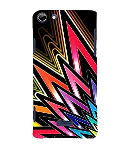 Vizagbeats Colored Spikes Back Case Cover for Micromax Canvas Q348