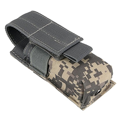 Taktische Gürteltasche, als Handytasche, Taschenlampen Halter verwendet kann - Hochwertig und Robust, Multifunktionell - ACU Tarnfarbe, 14X5.5X4CM - Handheld-taschenlampe
