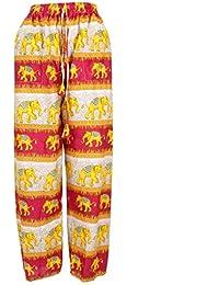 e5fff8f6d4 LOUDelephant Elephant Print Harem Ali Baba Trousers Yoga Pants - Contrast  Stripes