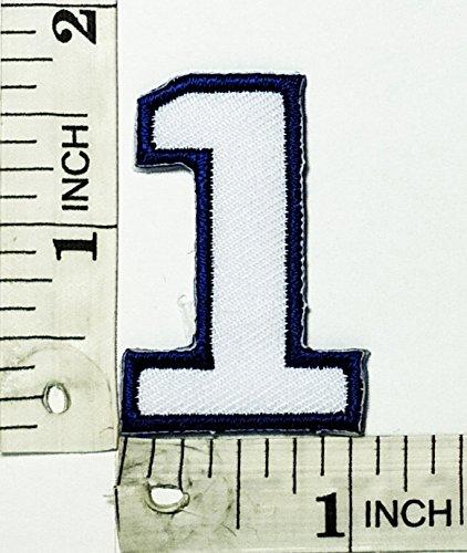 Nummer 9 Applique (Blau Weiß Nr. 1One Patch Embroidered Iron on Patches Sew On Patches Stickerei Applikations Aufnäher Embroidered Iron on Patches Sew On Patches Stickerei Applikations Aufnäher Catch The Patch Nummer 1One Blue Patch Logo Cartoon Kid Patch Hand bestickt und Bügelbild Symbol Jacke T-Shirt patches aufnäher Zubehör)