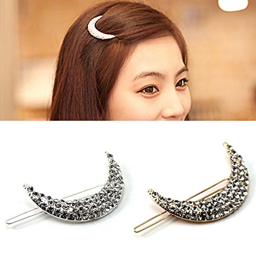 HuaYang-Delicate-design-Stylish-Hairpin-Lady-Women-Hair-Jewelry-Accessory-Rhinestone-Half-Moon-Hair-ClipGold