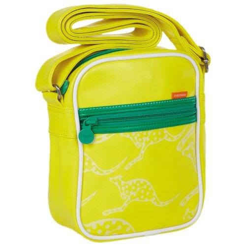 Chiemsee 5040603 Fine Umhängetasche, Retro Bag, coole Tasche im Retrodesign, schöne Tasche im kompakten Format mit Känguruh Druck, unisex, in verschiedenen Farben erhältlich, 21 x 17 x 8 cm blazing yellow