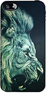 Snoogg Lion Fury Case Cover For Apple Iphone 5/5S/5S/5S