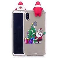 Everainy iPhone XS/iPhone X Silikon Hülle 3D Weihnachts dünn Durchsichtig Hüllen Handyhülle Gummi iPhone XS/iPhone... preisvergleich bei billige-tabletten.eu