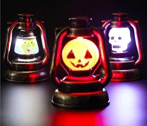 Treasure-House 3 pcsLaterne Beleuchtung Kürbis-Scary Skeleton oder gruselige Kids Party Deko Tisch oder auch zum Aufhängen leuchtet im (Scary Deko Ideen Halloween Outdoor)