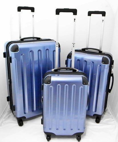 Koffer Hartschalenkoffer Trolley Reisekoffer Polycarbonat hellblau einzeln oder im Set