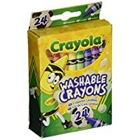 ‏‪Crayola 52-6924 Washable Crayons Assorted Colors 24 Count‬‏