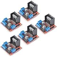 TIMESETL 5 piezas puente H doble L298N controlador del motor placa motor módulo de accionamiento del motor placa controladora del controlador para Arduino