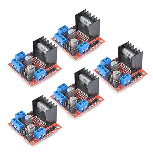 TIMESETL 5 Stück Dual H-Brücke Motorantrieb Controller Board L298N Bewegung Antriebs Steuerpult Brett für arduino