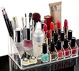#3: MOHAK Cosmetic Organizer 16 Compartment Cosmetic Makeup Jewellery Acrylic Lipstick Storage Organiser Box