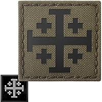 Ranger Green Infrared IR Order Holy Sepulchre Jerusalem Cross 2x2 Templar Tactical Morale Touch Fastener Patch