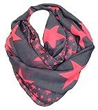 LOOP Design Schal Star STERN Fashion Schlauchschal Rundschal Trendy (Pink)