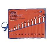 Alyco 191397 - Juego 12 llaves de estrella planas Cr-V satinado mate UNE 16545 DIN 837 en bolsa de nylon