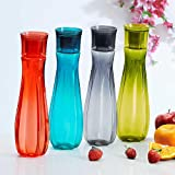 #3: Steelo Floret Water Bottle, 1000ml, Set of 4, Assorted