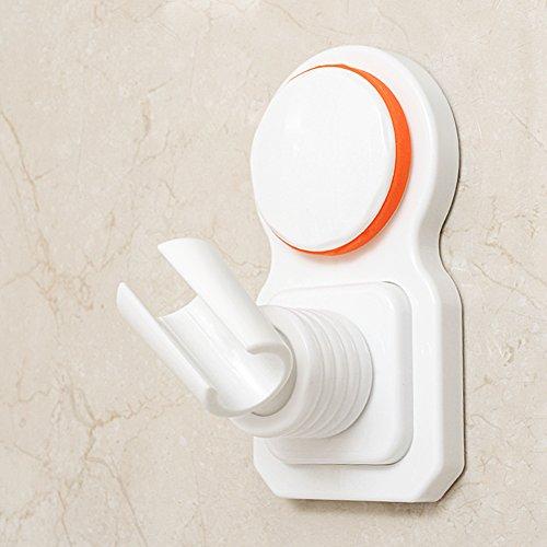 labkiss ajustable soporte del cabezal de ducha, Super fuerte vacío ventosa soporte de ducha de mano, reutilizable, impermeable, Heavy Duty, 360Rotación, Soporte de pared para alcachofa de ducha soporte para baño de baño, color blanco