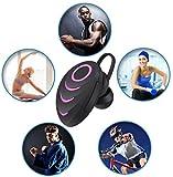 elecfan Kabellos Bluetooth Kopfhörer in Ear, Wireless Sport Kopfhörer Noise Cancelling Sweatproof Headphone mit Mikrofon für Galaxy S9 +/S8/Note8, iPhone X/8/7, Hotpink