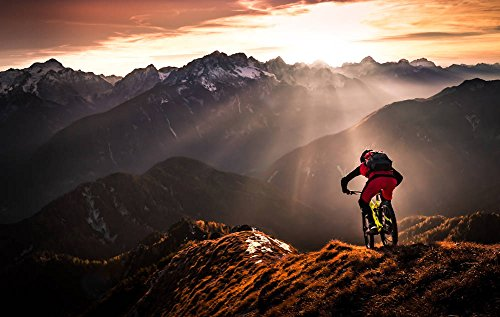 Mountainbike-kunst (Kunstdruck / Poster: Sandi Bertoncelj