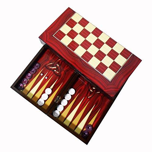XXL Tavla Spiel - Osmanisches Nomadenmotiv - Türkisches Backgammon 50x50cm