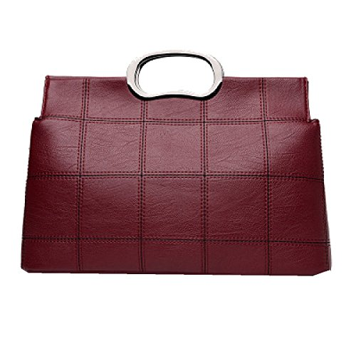 Yy.f Neue Feste Nähte Damenhandtaschen Art Und Weise Schulter-Kurier-Handtasche Eine Vielzahl Von Farben Grey