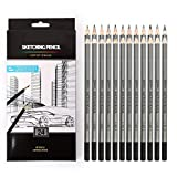 eS³kube Artist Quality Fine Art Drawing & Sketching Pencils - Set of 24