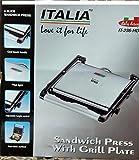Italia Grill Sandwich Maker 2000 Watts (Black and Grey)