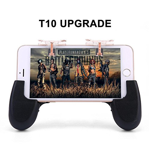 Teepao L1R1 Mobile Trigger 1 Paar Mobile Game Controller empfindliche Shoot und Ziel Tasten für pubg/Messer Out/Rules of Survival/fornite, Perfekt für 11,4–16,5 cm Android iOS Phone, mit 2 Gamepads