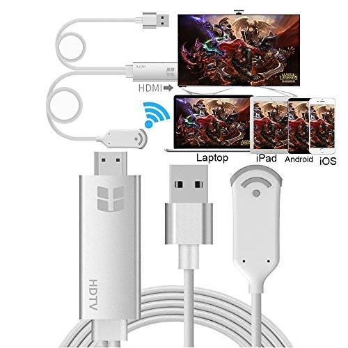 DIWUER Lightning Digital AV HDMI Cavo adattatore da lightning a HDMI con uscita audio video 1080p per mirroring Apple iPhone x/8 Series iPad e Android Smartphone schermo a TV/proiettore/monitor