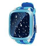 Intelligente Handyuhr der Kinder wasserdichte neue GPS-Positions-Farbenschirm-Screenkarte, zum der Handyuhr zu tragen , blue