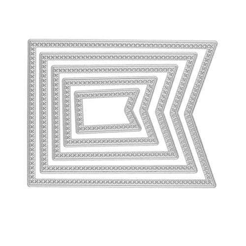 Souarts Cutting Scrapbooking Dies de Decoupe Pochoir Stencil pr Card Album Bricolage Pentagone Lot de 5Pcs