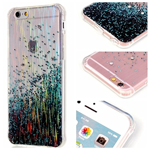 PowerQ Bubble Blase Serie Drop Proof Tropfen Anti Widerstand buntes Muster TPU Case Hülle < Colorful Tree | für IPhone 6 6S IPhone6S IPhone6 >        Corner Gassack Blase Stoßstange Airbag Drop Resistance Dr Spray Blue Point