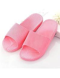 DSstyles ladrillo módulo Piezas zapatillas unisex suave felpa zapatillas de casa - Rojo Vuf76IXc