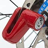 Laime - Antifurto per freno a disco a blocco del rotore, blocco di sicurezza per scooter, bici, motocicli, yellow