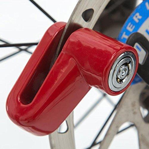Laime Cerradura antirrobo de disco de freno para scooter, bicicleta, motocicleta, seguridad, bloqueo de rueda de freno de disco, amarillo