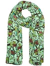 Neuf Chouette Oiseaux Branche imprimé Femme Long écharpes Maxi écharpe,  Étole,… 127a1f9d6079