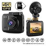 DashCam Autokamera DVR Dashboard-Kamera Rekorder mit 4K FHD, eingebautes WiFi & GPS, APP- Support,...