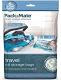 Packmate ® 4 Large Roll Up Travel Vacuum Space Saver Storage Bags For Holidays, Travelling, Large Suitcases & Rucksacks