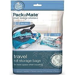 Packmate ® 4 bolsas enrollables para almacenaje comprimido - Para vacaciones, viajes, maletas grandes y mochilas