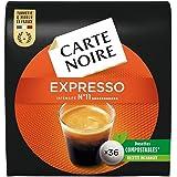 Carte Noire Expresso N°11, Café en Dosette Compostables Compatibles Senseo, 10 Paquets de 36 dosettes souples (360 dosettes)