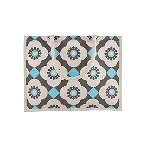 Sass and Belle Mediterranean Mosaic Jute Shopping Bag