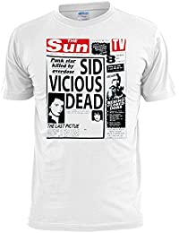 Sid Vicious Dead Newspaper Headline Mens T Shirt Free UK Postage