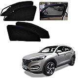 #2: Kozdiko Zipper Magnetic Car Sunshades Curtain Set of 4 Pcs Black Color for Hyundai Tucson