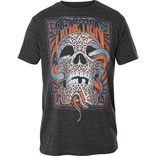 Affliction T-Shirt Carved Inside Grau Grau