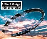 Filter UV slim 58mm XMC Digital Weil Design Germany - SYOOP - * Objektivschutz * blockt ultraviolettes Licht * mit Frontgewinde * 16 fach vergütet XMC * inkl. Filterbox 52, 55, 58, 62, 67, 72, 77, 82mm (UV Filter 58mm)