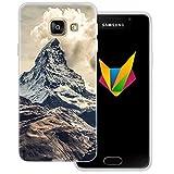 Mobilefox Berge Silikon TPU Schutzhülle 0,7mm dünne Handy Soft Case Cover Hülle für Samsung Galaxy A3 (2016) Berggipfel