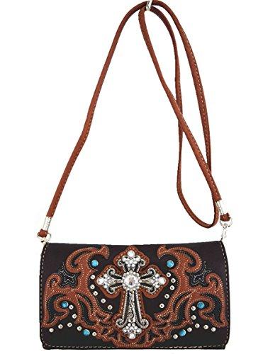 Blancho Biancheria da letto delle donne [religiosa] borsa dellunità di elaborazione di cuoio di modo elegante Borsa BROWN WALLET-BROWN