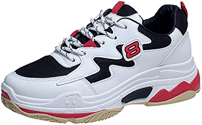 NGRDX&G Mujer Zapatillas Plataforma Cuña Mujer Zapatos Casuales Malla Gruesa Malla Transpirable Ocio Femenino...