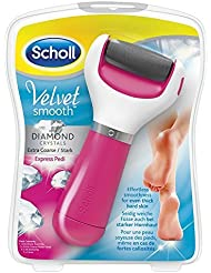 Scholl Velvet Smooth Pedi Electric Hard Skin Remover, Pink