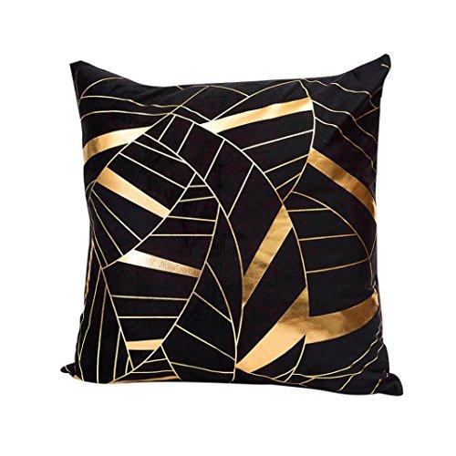 hshi Kissen Fall Gold Folie Druck Creative Überwurf Kissen Auto Schlafzimmer Sofa Kissenbezug Warm Home Decor, a, 1