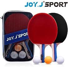 Joy.J Sets de Ping Pong, 2 Raquetas de Ping Pong + 3 Pelotas